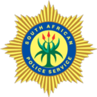 The logo of the South African police service.